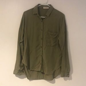 Utility Inspired Green Blouse